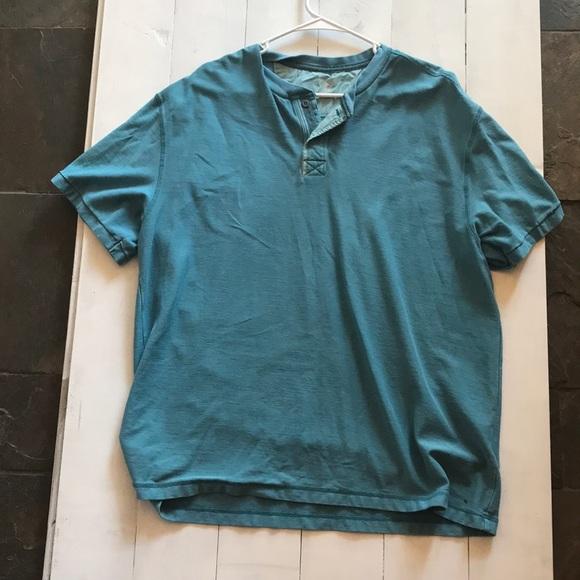 Short Sleeve Henley Shirt Mens